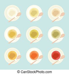 Types of tea illustration