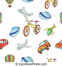 Types of transport pattern, cartoon style