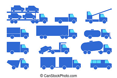 Types of trucks.