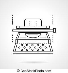 Typescript equipment flat line vector icon - Writer...
