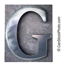 Typescript upper case G   letter
