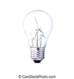 typesetting and bulb assembly with nature, ecology concept