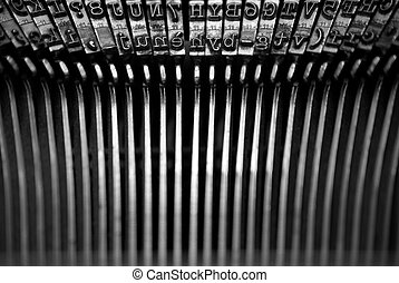typewriter alphabet - letters from an old typewriter