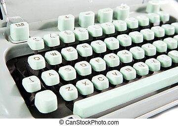 Typewriter, close-up