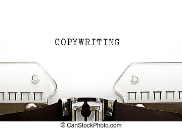 Typewriter Copywriting - Concept image with Copywriting...