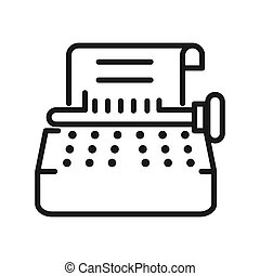 typewriter copywriting vector illustration design