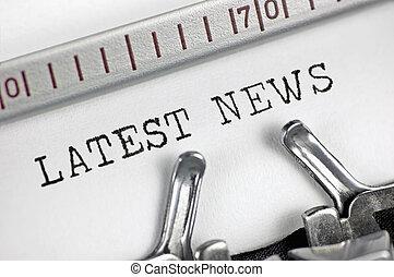 Typewriter detailed macro closeup typing text Latest News,...