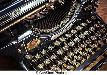 Typewriter - Details of an old retro typewriter, vintage...