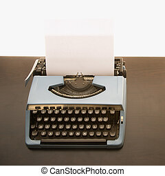 typewriter., fashioned velho
