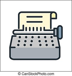 typewriter icon illustration design