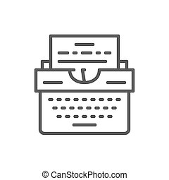 Typewriter line icon.