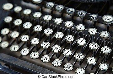 Typewriter - Old typewriter closeup o keys