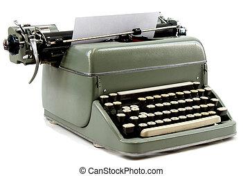 Typewriter - Old typewriter isolated on white