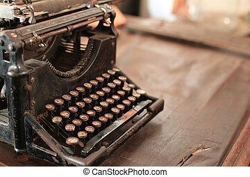 Typewriter - Old vintage iron typewriter on the table