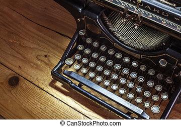 Typewriter - Retro design of an old typewriter, dusty ...