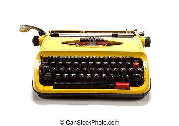 Typewriter isolated on white