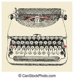 Typewriter typed - Typewriter in typewriter art
