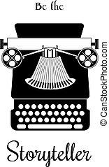 Typewriter vector card - be the Storyteller - Vector ...