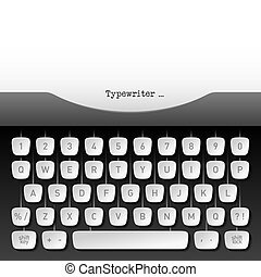 Typewriter - Vector illustration