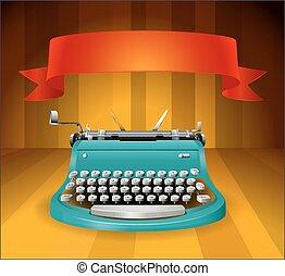 Typewriter - Vintage typewriter with red banner on top
