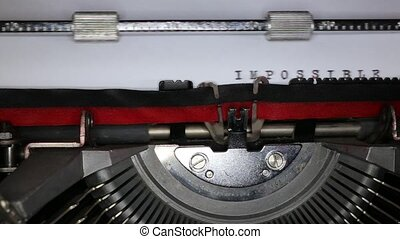 TYPEWRITER with written possible - TYPEWRITER with written...
