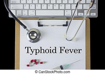typhoid, febre