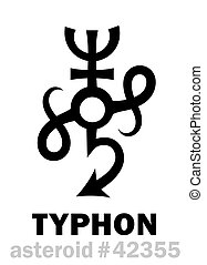 typhon, asteroïde, astrology: