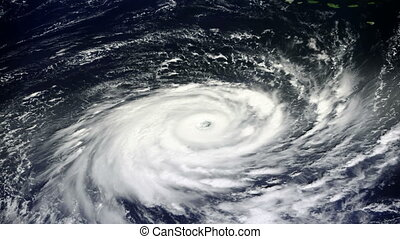 """Typhoon, satellite view"" - ""Typhoon, satellite view...."