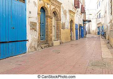 Typical alley in a Moroccan town
