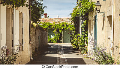 typical alley in the center of Noirmoutier