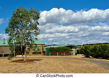 Typical Australian countryside home
