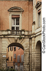 Typical Bologna street - Image of a typical street in...