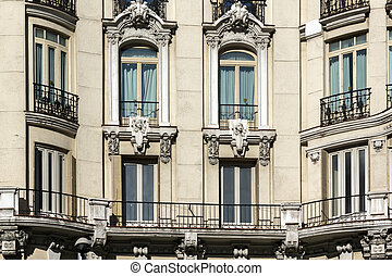 Typical building in the center of City of Madrid
