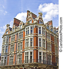 Typical buildings in London, UK