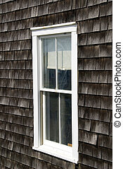 Typical Cape Cod Shingles - Typical wooden shingles on a...