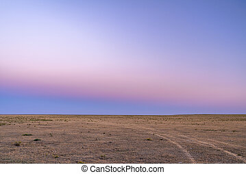 typical clear sky after sunset over Colorado prairie