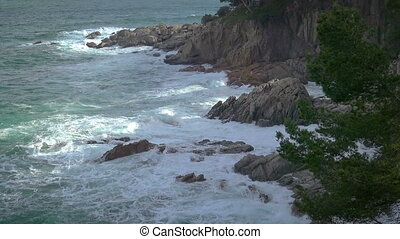 Typical coastal of Spanish Costa Brava