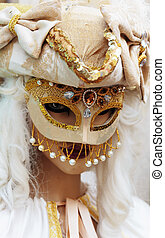 Typical colorful mask from the venice carnival, Venice, ...