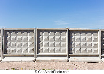 typical concrete fence