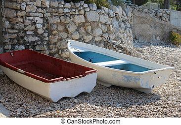 Typical Croatian boats