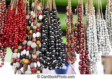 Typical Cuban souvenir - seed jewelry