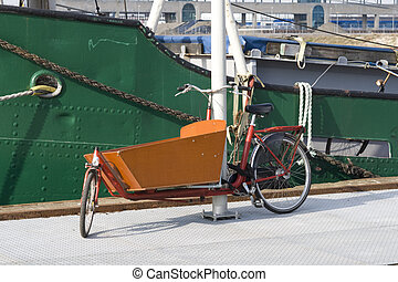 Typical Dutch carrier bicycle