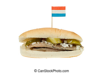 dutch herring sandwich - typical dutch herring sandwich...