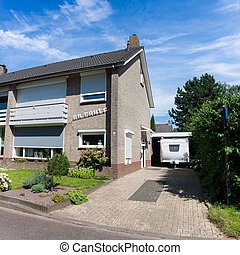 Typical Dutch Semi Detached House situated in a cresent ...