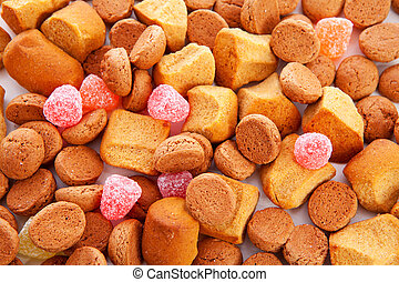 Typical dutch sweets: pepernoten (ginger nuts) for...