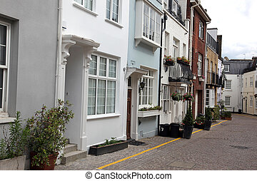 Typical English Houses at London