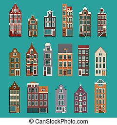 Typical European Houses - Collection of typical european...