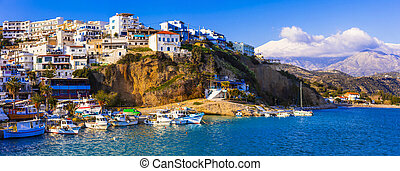Typical fishing village Agia Galini, Crete . Greece - Crete ...