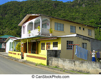 typical house architecture Soufriere St. Lucia - typical...