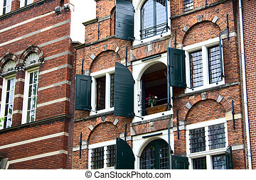 Typical house in center of Amsterdam